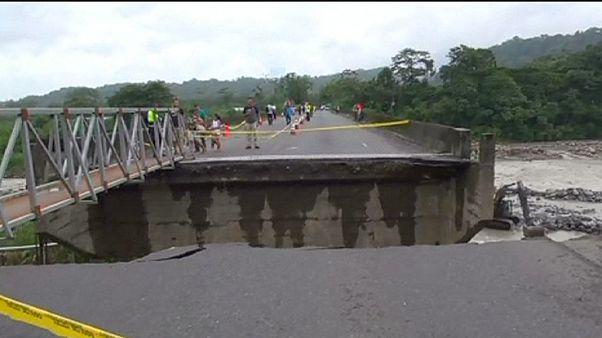 Costa Rica'da alt yapıyı sel vurdu