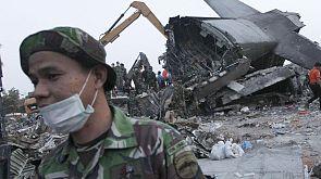 Indonesia: fatal crash of a military transport plane