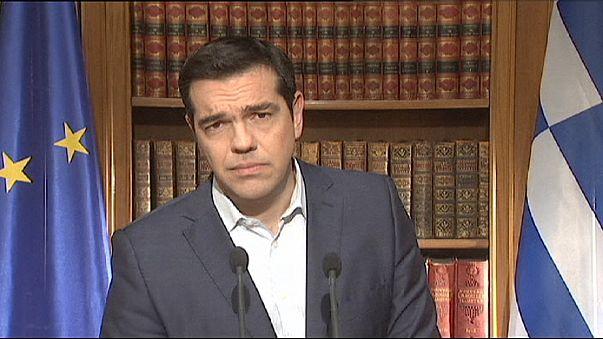 Телеобращение греческого премьера к нации