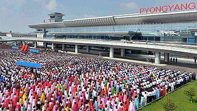 كوريا الشمالية تحتفل بافتتاح مطار جديد – nocomment
