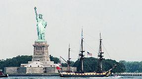 """""""L`Hermione"""" in New York City eingelaufen"""