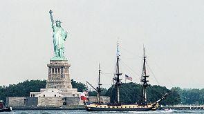 L'Hermione arrive à New York