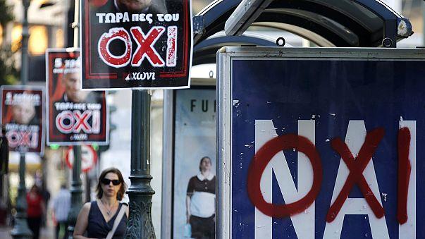 """Греция перед референдумом: """"да"""", """"нет"""", """"бойкотировать"""", """"отменить""""."""