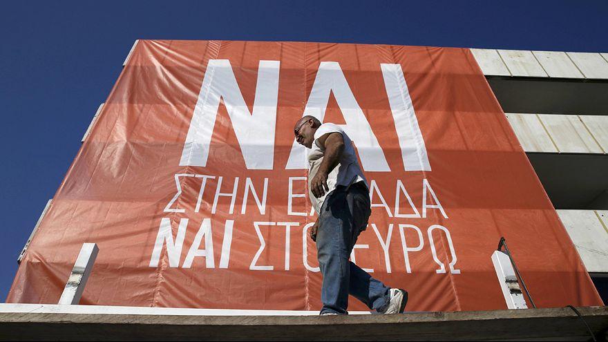 Fej-fej mellett az igen és a nem tábor Görögországban