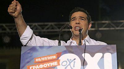 """Kundgebungen für """"Nein"""" und """"Ja"""" bei griechischer Volksabstimmung"""