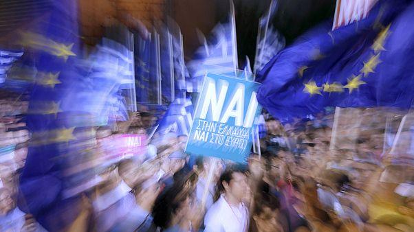 """Grecia: 20mila in piazza per il """"si""""."""