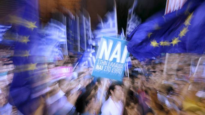 Greece 'yes' voters gather for major rally ahead of bailout vote