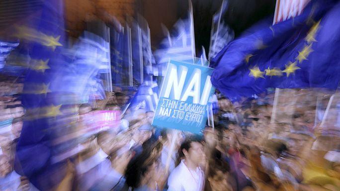 تظاهرة في اليونان لدعم التصويت بنعم في استفتاء الأحد