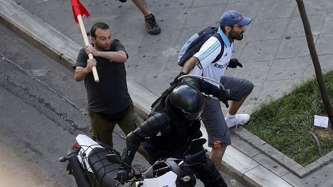 """اليونان: اشتباكات خلال تجمع أنصار """"لا"""" لمقترحات الدائنين"""