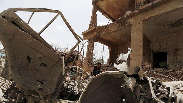 Ataque de la coalición Saudí contra milicias chiíes hutis en Yemen