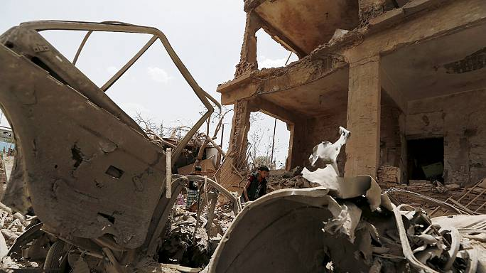 Saudi-led strikes target Houthi strongholds in Sana'a