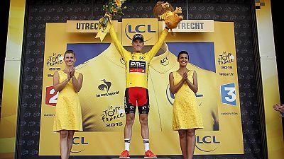 Rohan Dennis en jaune