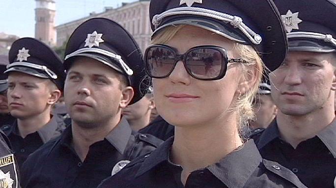 Ukrayna'da reform kapsamın 2 bin yeni polis işbaşı yaptı
