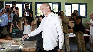 Greece: Mixed reception for Finance Minister Varoufakis as he votes in referendum
