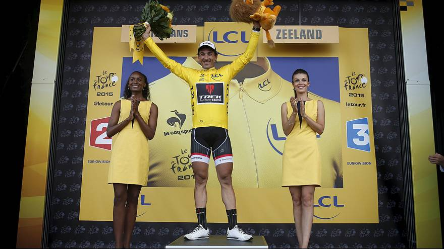 Cancellara in yellow; Greipal wins stage 2 of the Tour de France