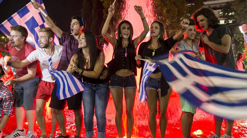 Atenas celebra el NO en el referéndum