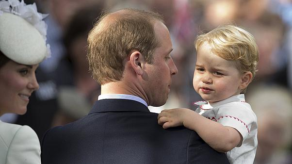 Hundreds gather for christening of Britain's Princess Charlotte