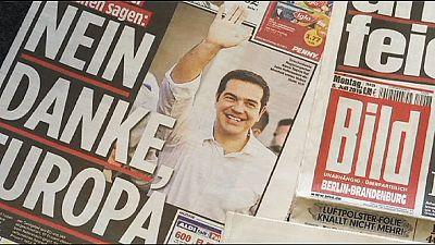 La reazione di giornali e cittadini tedeschi al referendum greco