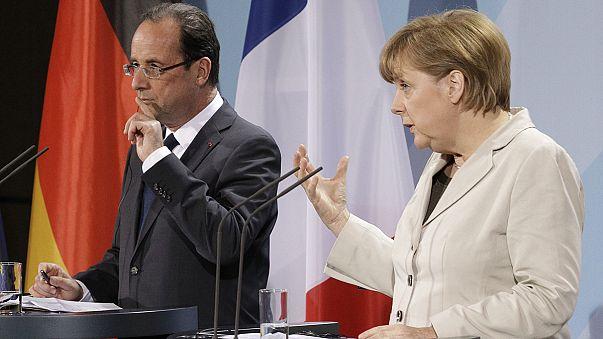 Canlı izleyin: Hollande ve Merkel'in Yunanistan hakkında basın toplantısı