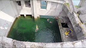 Soviet prison transformed into dive site in Estonia