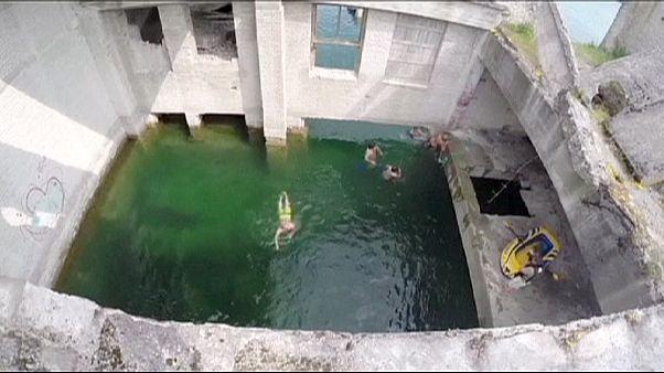 Una antigua prisión soviética, reconvertida en piscina en Estonia
