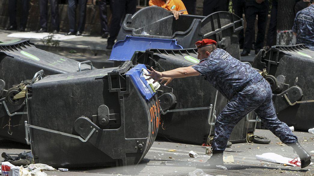 Dezenas de detidos em protesto na capital da Arménia