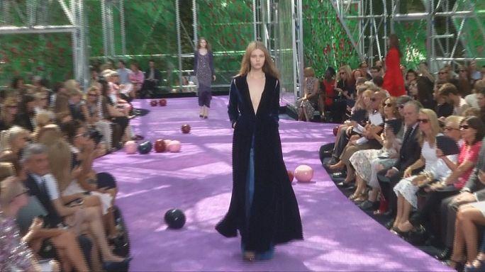 Valli 'eccentric' Dior inspired by Flemish masters at Paris Fashion Week