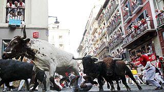Des blessés lors du premier lâcher de taureaux des fêtes de la San Fermin