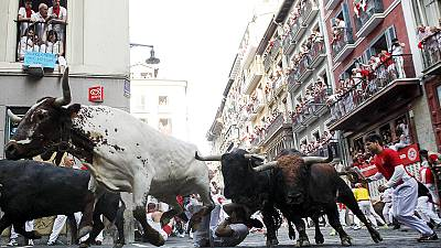 Tourists gored by bulls during San Fermin 'bull run'