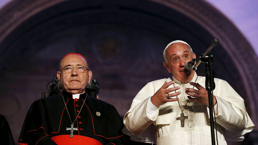 Pope Francis calls on people in Latin America to unite