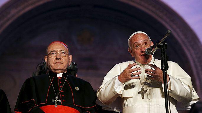 Ferenc pápa dél-amerikai körúton jár