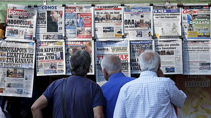 ردود فعل الشارع الاوروبي على ازمة اليونان