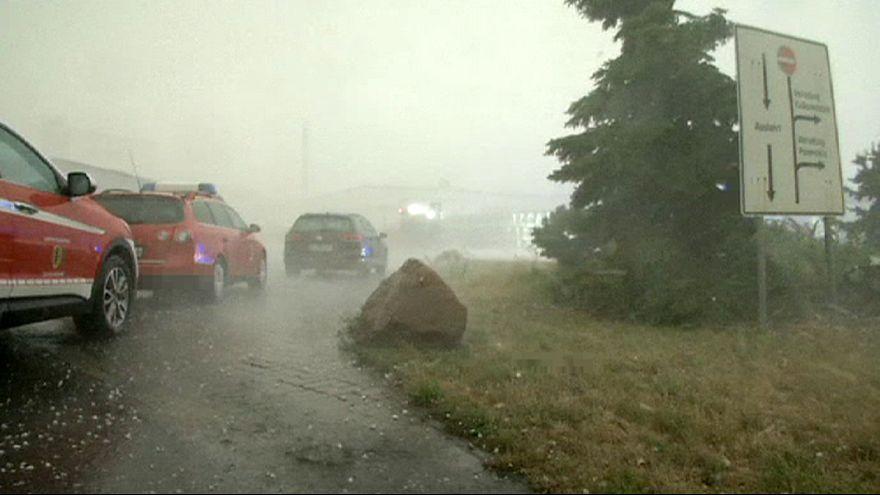 Hagel und Sturm: Schwere Unwetterschäden in Deutschland