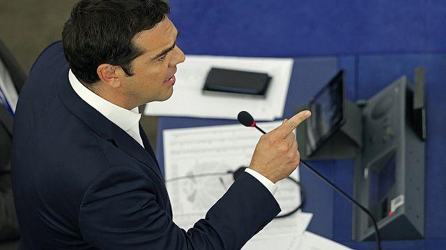 ردود فعل متفاوتة على كلمة اليكسيس تسيبراس امام البرلمانيين الاوروبيين