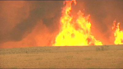 Violents feux de forêt en Espagne