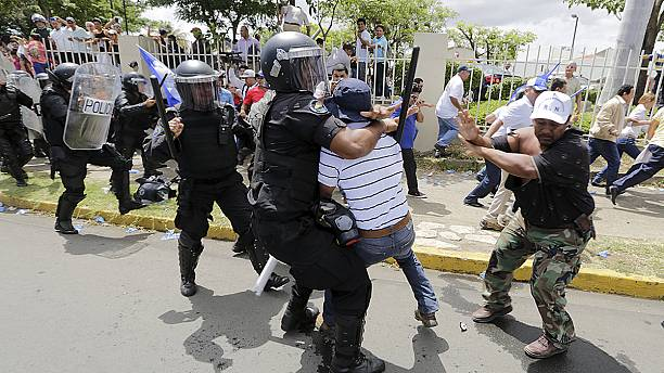 Clashes erupt at Nicaragua electoral reform protests