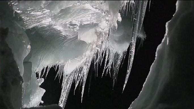 Take a trip deep into iceland's Langjökull glacier