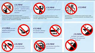 Russia warns of the deadly dangers when taking a selfie