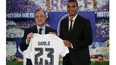 Danilo, el primer fichaje de era Benítez, presentado en el Bernabéu