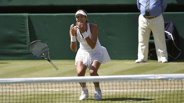 Muguruza, primera española en una final de Wimbledon en 19 años tras ganar a Radwanska