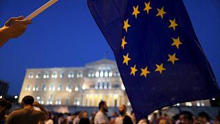 Manifestation pour le maintien de la Grèce dans la zone euro