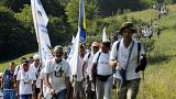Srebrenica peace marchers remember 1995 mass killing
