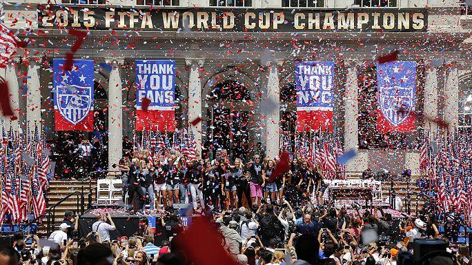 New Yorkban ünnepelték a vb-hősöket