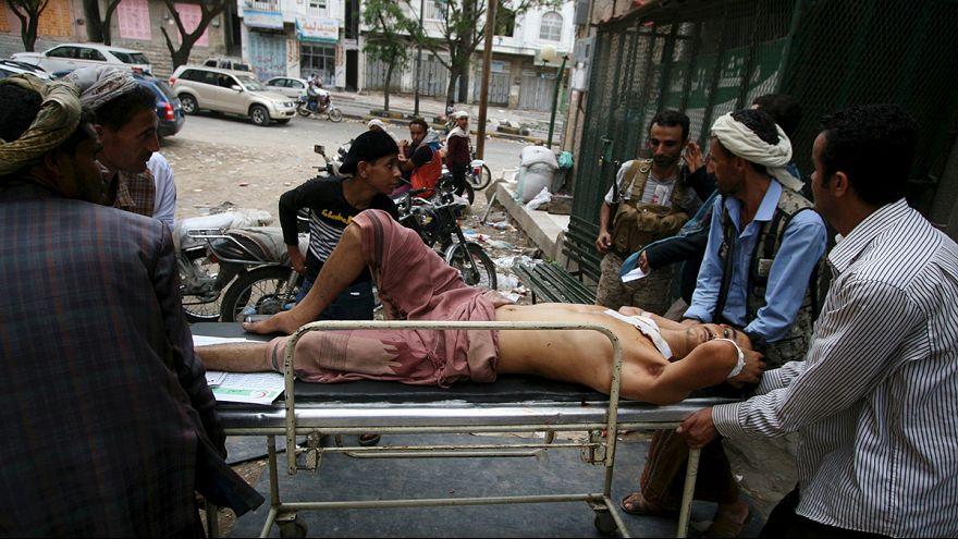 قوات التحالف بقيادة السعودية تضرب عدة مواقع للحوثيين في صنعاء و تعز