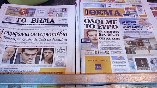 """La crainte d'un """"Grexit"""" se fait de plus en plus ressentir à Athènes"""