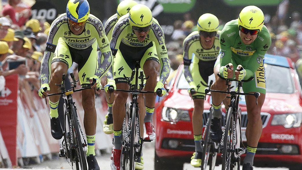 Froome mantiene el 'maillot' amarillo tras la contrarreloj por equipos