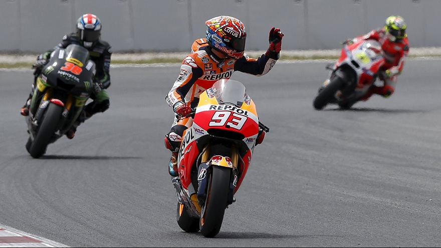 Marquez makes it six in a row at the Sachsenring