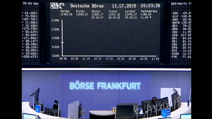 Bolsas europeias em alta após acordo para resgate à Grécia