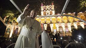 Pope Francis ends his South American trip in Paraguay