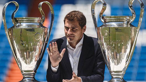 Iker Casillas homenageado no Santiago Bernabeu